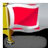 flaga czerwony kwadrat