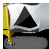 flaga trójkąt czarny